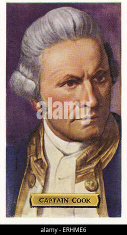 James Cook - English sea captain and explorer. JC: 27 October 1728 – 14 February 1779. - Stock Photo