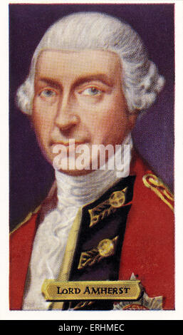 Jeffery Amherst, 1st Baron Amherst - English politician and army officer JA: 29 January 1717 – 3 August 1797. Lord - Stock Photo