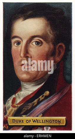 Arthur Wellesley, 1st Duke of Wellington - Prime Minister of England AW: c. 1 May 1769 – 14 September 1852. Also - Stock Photo