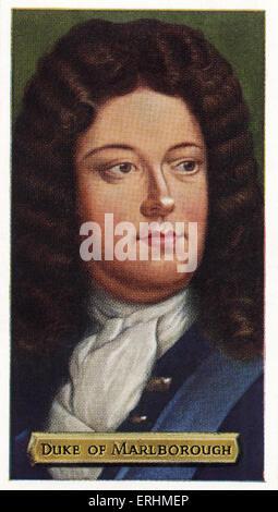 John Churchill, 1st Duke of Marlborough - British soldier. JC: 26 May 1650 – 27 June 1722. - Stock Photo