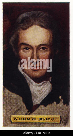 William Wilberforce - British politician WW: 24 August 1759 – 29 July 1833.  Led a parliamentary campaign against - Stock Photo