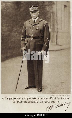 Marshal Pétain - French general and later head of state of Vichy, France (1940 - 1944) Born Henri Philippe Benoni - Stock Photo