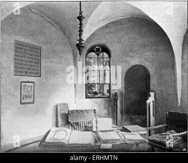 Rashi 's Beth Hamidrash / prayer house in Worms, Germany. Acronym for Rabbi Shlomo Yitzhaqi, French rabbi, 22 February - Stock Photo