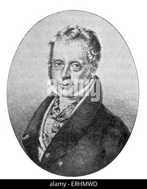 Mayer Amschel Rothschild - founder of famous banking dynasty. 1744 - 19 September 1812. - Stock Photo