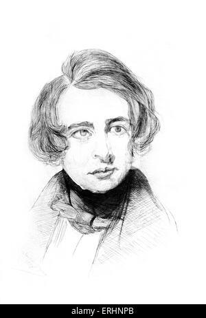 Charles Dickens aged 18 English novelist, 7 February 1812 – 9 June 1870. - Stock Photo
