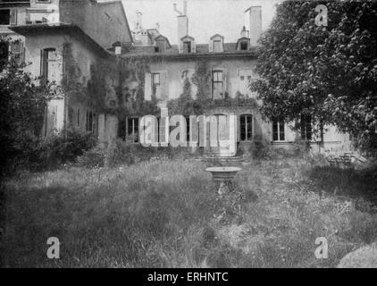 Benjamin Constant birthplace (pulled down in 1912).  Henri-Benjamin Constant de Rebecque, Swiss-born,  writer and - Stock Photo