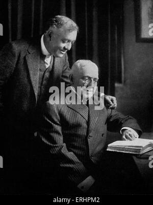 Otis Skinner and James Whitcomb Riley- in Indianapolis, USA.  OS: American actor, 28 June 1858 - 4 January 1942. - Stock Photo