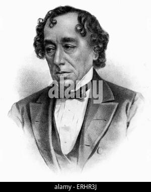 Benjamin Disraeli - Earl of Beaconsfield. British Conservative statesman and literary figure: 21 December 1804 – - Stock Photo
