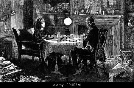 'The Mystery of Edwin Drood' by Charles Dickens. Caption reads: Mr. Grewgious experiences a new sensation -(Rosa - Stock Photo