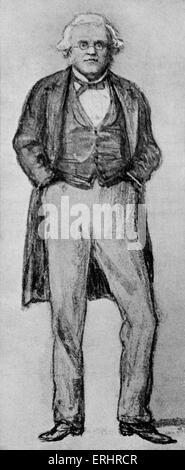 William Makepeace Thackeray - sketch by John Millais. English novelist, 18 July 1811 - 24 December 1863. - Stock Photo