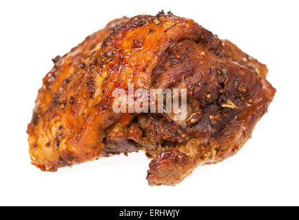 baked meat on white - Stock Photo
