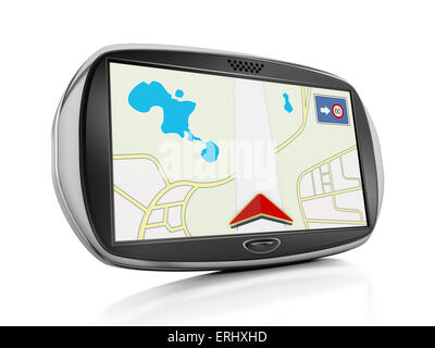 Navigation device isolated on white background. - Stock Photo