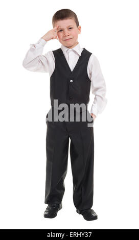 boy showing a gesture to think - Stock Photo