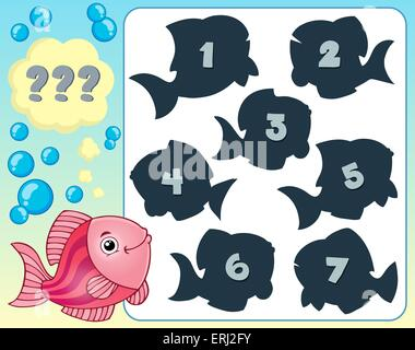 Fish riddle theme image 3 - picture illustration. - Stock Photo