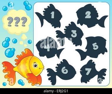 Fish riddle theme image 4 - picture illustration. - Stock Photo