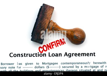 Construction Loan Agreement Stock Photo Royalty Free Image