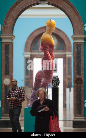Royal Academy, Burlington House, London, UK. 3rd June, 2015. Press view of the Summer Exhibition which opens to - Stock Photo