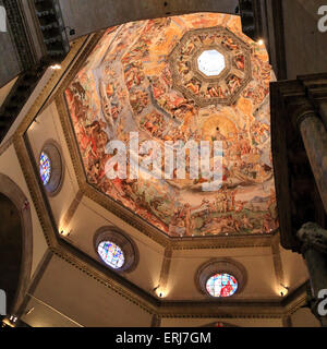 Ceiling painting in the Cathedral of Santa Maria del Fiore, Florence / Duomo di Firenze - Stock Photo