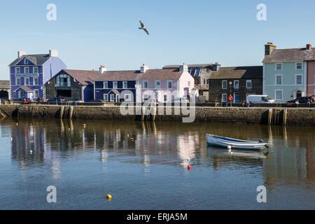 The harbour at Aberaeron, Ceredigion, Wales - Stock Photo