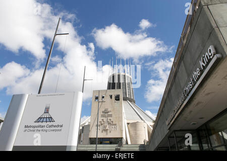 The Metropolitan Cathedral of Christ the King , Liverpool , UK - Stock Photo
