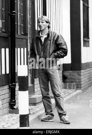 Birmingham City footballer Robert Hopkins. October 1985. - Stock Photo