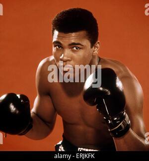 Muhammad Ali aka Cassius Clay Boxer photo shoot. Circa 1966 - Stock Photo