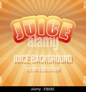 Background of Label for apple juice. Bright premium design. Vector Illustration. - Stock Photo