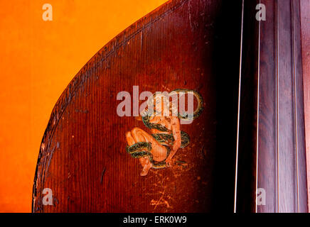 A close up of a stand-up bass in North Carolina. - Stock Photo