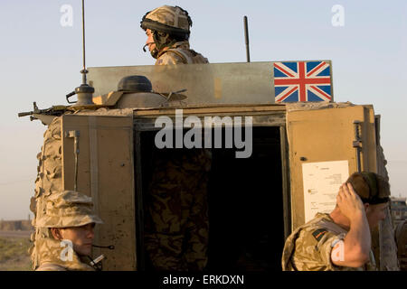 Members of the 1st Battalion Devonshire and Dorset Light Infantry on patrol near Basra, Southern Iraq. Credit: Gary Calton / eyevine  For further information please contact eyevine tel: +44 (0) 20 8709 8709 e-mail: info@eyevine.com www.eyevine.com Credit: Gary Calton / eyevine  For further information please contact eyevine tel: +44 (0) 20 8709 8709 e-mail: info@eyevine.com www.eyevine.com