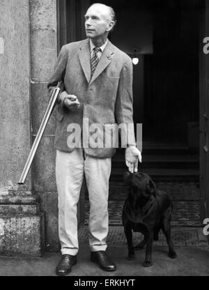 Prime Minister  Sir Alec Douglas Home seen here on the steps of Castlemains his Lanarkshire home. 19th August 1963 - Stock Photo