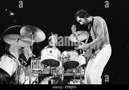 The Who rock group in concert at the Empire Pool, Wembley. Drummer Keith Moon and guitarist Pete Townshend. 24th - Stock Photo