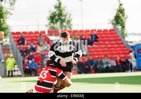 Forthbank Stadium, 26th September 1995. Gavin Hastings makes his last big-game appearance. He will quit as an international - Stock Photo