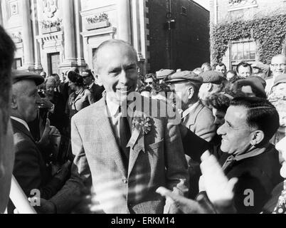 Prime Minister Sir Alec Douglas Home seen here in Kings Lynn during a general election tour of East Anglia. 29th - Stock Photo