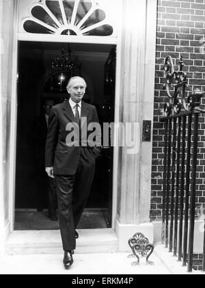 Prime Minister Sir Alec Douglas Home seen here leaving No 10 Downing Street. 10th August 1964 - Stock Photo