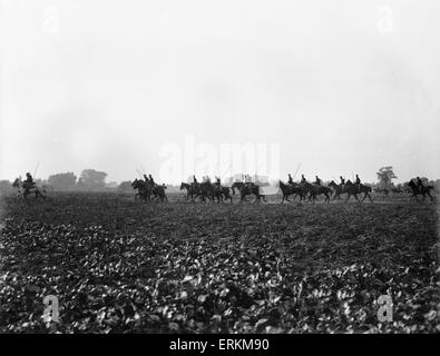 Belgian cavalry seen here in operation close to Hofstade 28th September 1914 - Stock Photo