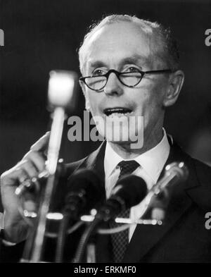 Prime Minister Sir Alec Douglas Home speaking at Bury, Lancashire. 3rd February 1964 - Stock Photo
