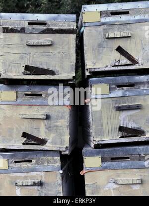 Old cabinets-Ucagiz-Turkey - Stock Photo