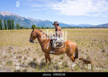 Gaucho on horseback, Patagonia, Argentina, South America