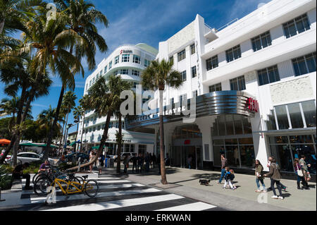 Lincoln Road Mall, South Beach, Miami Beach, Florida, United States of America, North America - Stock Photo