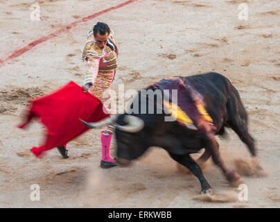 Bullfights, Festival of San Fermin, Pamplona, Navarra, Spain, Europe - Stock Photo