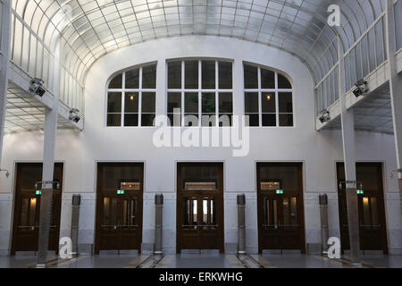 Hall. Postal Office Savings Bank Building by Otto Wagner, Vienna, Austria, Europe - Stock Photo