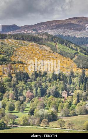 View from Knockfarrel hill near Strathpeffer in Scotland.