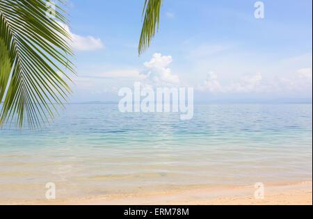 Deserted beach on the archipelago Bocas del Toro, Panama - Stock Photo