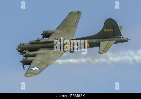 Sally B is the name of an airworthy 1945 built Boeing B-17G Flying Fortress, it is the only airworthy B-17 left - Stock Photo