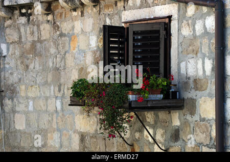 Dubrovnik shutter window - Stock Photo