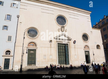 Santa Maria sopra Minerva Rome Italy - Stock Photo