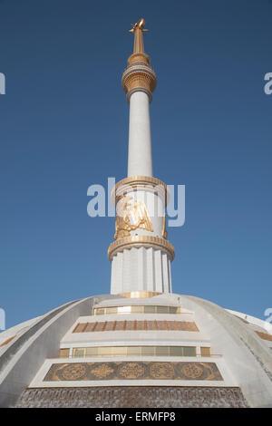Monument of Independence, Independence Park; Ashgabad, Turkmenistan - Stock Photo
