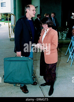 Ann Arbor, Michigan Oct. 1992 im Carville Clinton's political advisor leaves tehotel in An Arbor enroute to the - Stock Photo