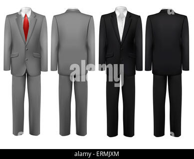 Set of black and grey suits. Vector. - Stock Photo