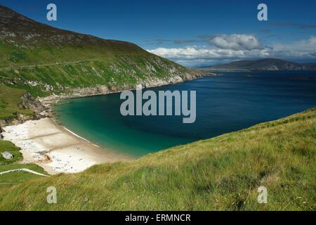 Keem beach on Achill island on the Wild Atlantic Way; County Mayo, Ireland - Stock Photo